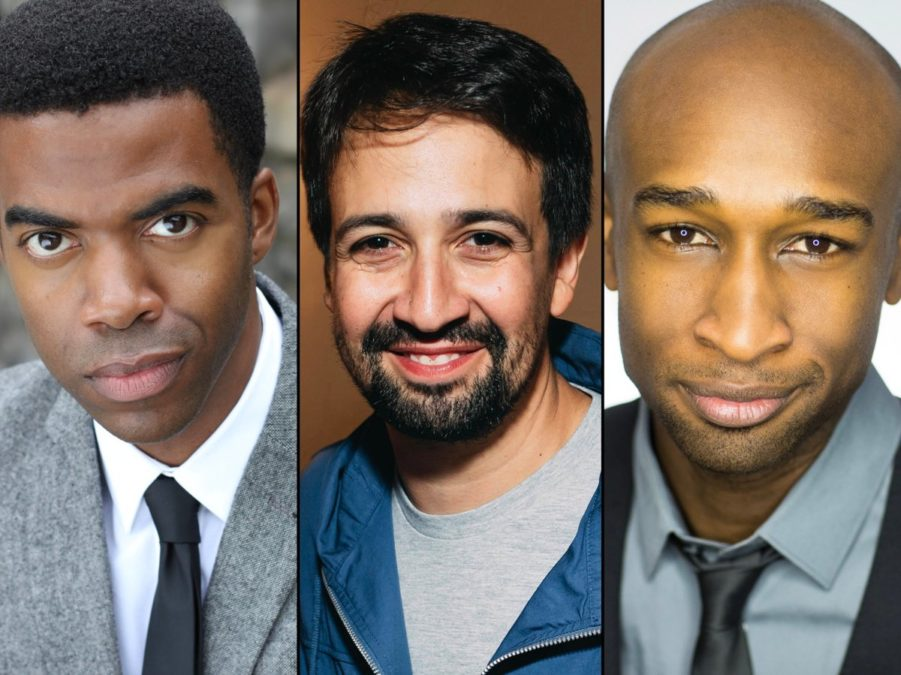 Julius Thomas III - Lin-Manuel Miranda - Donald Webber Jr. - 11/2018 - headshots provided by the production - photo of Lin by Emilio Madrid-Kuser for Broadway.com