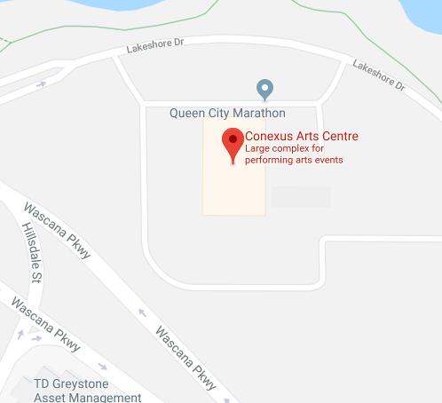 Google Map for Conexus Arts Centre